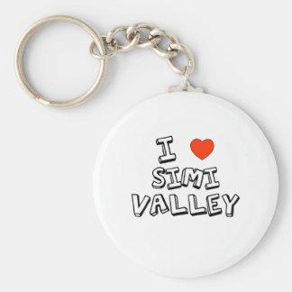 I corazón Simi Valley Llavero Redondo Tipo Pin