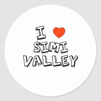 I corazón Simi Valley Pegatina Redonda