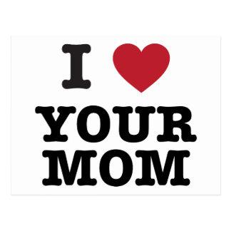 I corazón su mamá postal