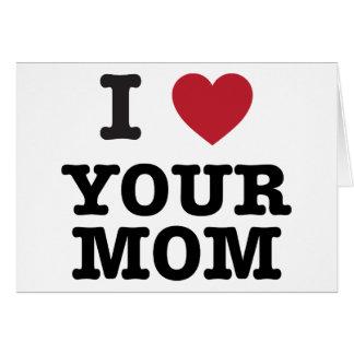 I corazón su mamá tarjeta de felicitación
