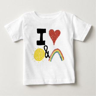 I corazón Sunshines y arco iris Poleras