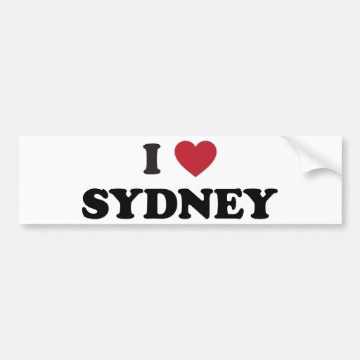 I corazón Sydney Australia Etiqueta De Parachoque