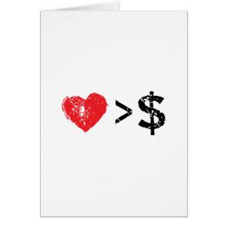 I corazón t tarjeta de felicitación