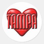 I corazón Tampa Etiquetas