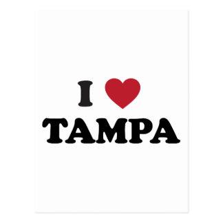 I corazón Tampa la Florida Tarjetas Postales