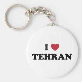 I corazón Teherán Irán Llavero Redondo Tipo Pin