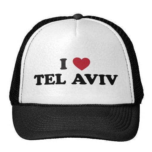 I corazón Tel Aviv Israel Gorro De Camionero