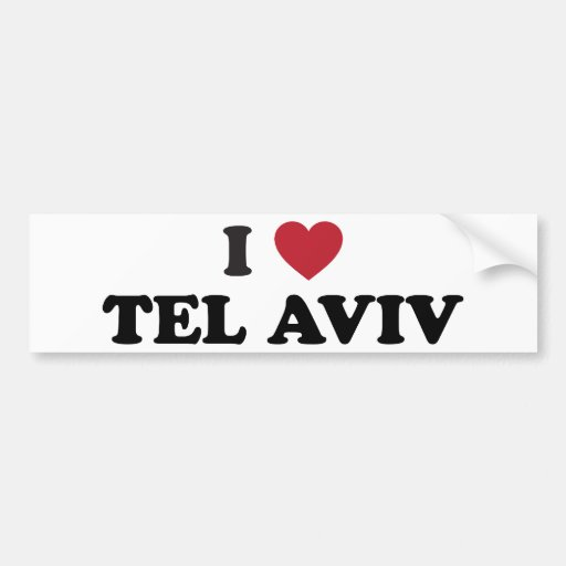 I corazón Tel Aviv Israel Pegatina Para Auto