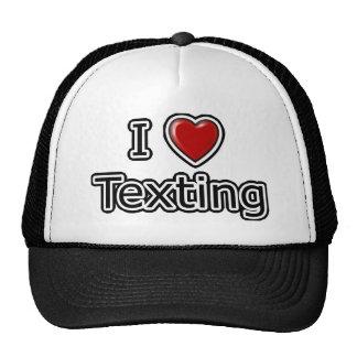 I corazón Texting Gorro