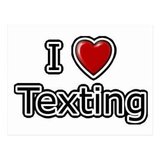 I corazón Texting Postal