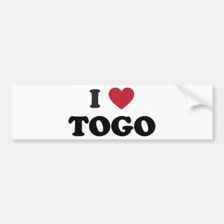 I corazón Togo Pegatina Para Auto
