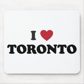 I corazón Toronto Canadá Alfombrilla De Ratones