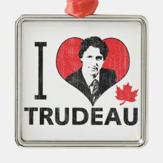 I corazón Trudeau Adorno Navideño Cuadrado De Metal