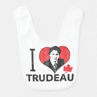 I corazón Trudeau Babero De Bebé
