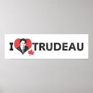 I corazón Trudeau de par en par Póster