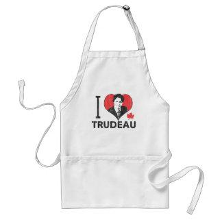 I corazón Trudeau Delantal
