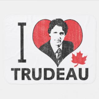 I corazón Trudeau Manta De Bebé