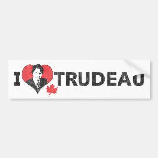 I corazón Trudeau Pegatina Para Auto