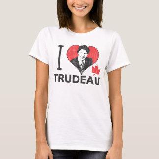 I corazón Trudeau Playera