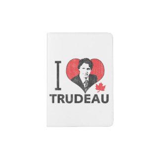 I corazón Trudeau Porta Pasaporte