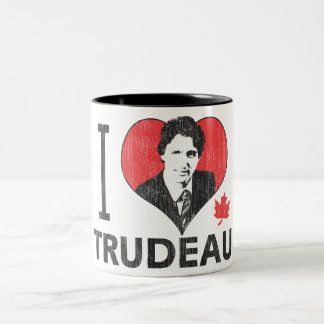 I corazón Trudeau Taza De Café De Dos Colores