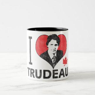 I corazón Trudeau Taza De Dos Tonos
