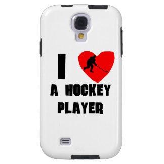 I corazón un jugador de hockey