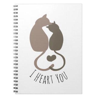 I corazón usted libro de apuntes con espiral