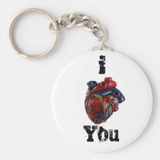¡I corazón usted! Llavero Redondo Tipo Pin