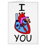 I corazón usted tarjeta del día de San Valentín