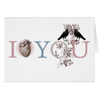 I corazón usted tarjeta del el día de San Valentín