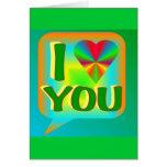 I corazón usted Tarjeta-Verde