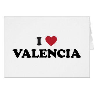 I corazón Valencia Tarjeta De Felicitación
