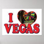 I corazón Vegas Impresiones