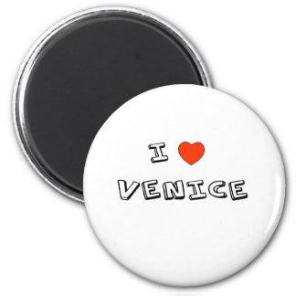 I corazón Venecia Imán Redondo 5 Cm