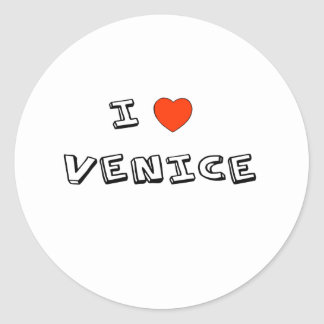 I corazón Venecia Pegatina Redonda
