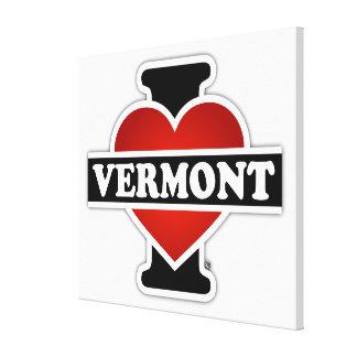 I corazón Vermont Impresiones En Lona