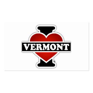 I corazón Vermont Tarjetas De Visita