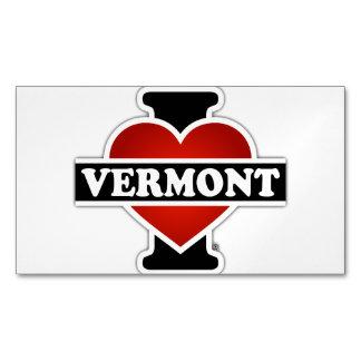 I corazón Vermont Tarjetas De Visita Magnéticas (paquete De 25)