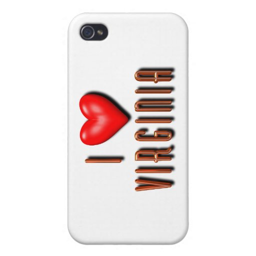 I corazón Virginia iPhone 4 Funda