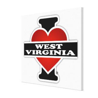 I corazón Virginia Occidental Lona Envuelta Para Galerías