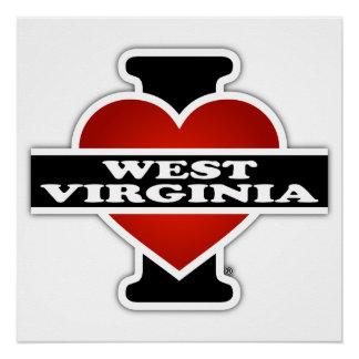 I corazón Virginia Occidental Perfect Poster