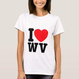 I corazón Virginia Occidental Playera
