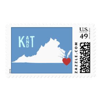 I corazón Virginia - sello adaptable de la ciudad