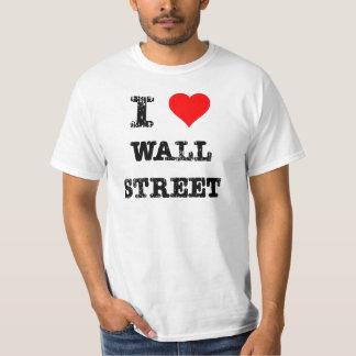 I corazón Wall Street Playeras