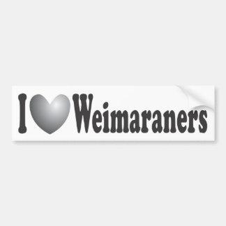 I corazón Weimaraners - pegatina para el parachoqu Pegatina Para Auto
