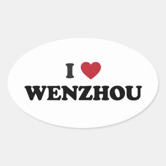 I corazón Wenzhou China Pegatina Ovalada