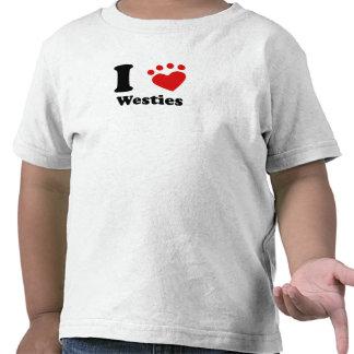 I corazón Westies Camiseta
