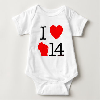 I corazón Wisconsin 14 Polera