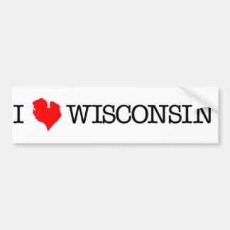 I corazón Wisconsin Pegatina De Parachoque